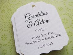 wedding favor tags party favor tags thank you by sweetiepeonies