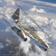 German Me-262 (Swallow), the first operational jet to see combat.  ArtStation - Aviation Archive Issue 34, Antonis Karidis
