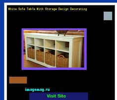 White Sofa Table With Storage Design Decorating 134642 - The Best Image Search
