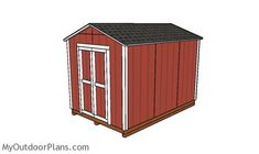 This step by step diy project is about cheap shed plans. This compact shed is a relatively roomy storage shed and it is optimized for you to build it fast and on a budget. 8x12 Shed Plans, Shed House Plans, Shed Building Plans, Diy Storage Shed Plans, Wood Storage Sheds, Craftsman Sheds, Bbq Shed, Shed Frame, Cheap Sheds