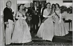 Queen Elizabeth II of Great Britain, Queen Juliana I of The Netherlands , Duke Philip of Edinburgh, and Princesses Irene and Beatrix of The Netherlands