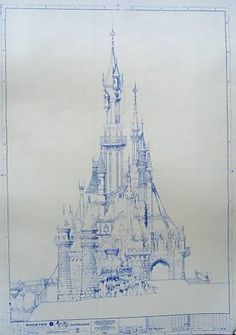 Hey, I found this really awesome Etsy listing at https://www.etsy.com/listing/128978108/euro-disney-castle-blueprint