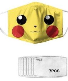 Kawaii Pokemon Mouth Mask with 7 Filters - Kuru Store Pokemon Masks, Pokemon Plush, Pokemon Party, Japanese Kawaii Fashion, Mask Shop, Kawaii Plush, Cute Stationery, Kawaii Stuff, Mouth Mask