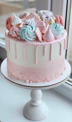 14th Birthday Cakes, Candy Birthday Cakes, Beautiful Birthday Cakes, Birthday Cakes Girls Kids, Baby Girl Birthday Cake, Flower Birthday Cakes, Sweetie Birthday Cake, Simple Birthday Cakes, Fun Birthday Cakes