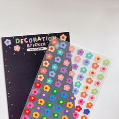 Sticker Ideas, Diy Stickers, Cute Stationery, Stationary, Cute Letters, Stationeries, Tiny Flowers, Cute Illustration, Rainbows