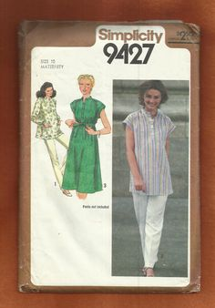 Vintage 1980 Simplicity 9427 Maternity Dress par ThimbledFingerTips, $7.00