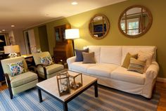 Apple Green Family Room Interior Design