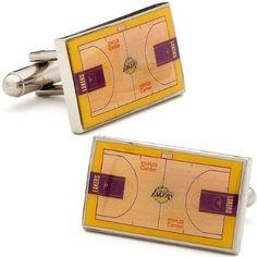 NBA Sport Los Angeles LA Lakers basketball Court Cufflinks Cuff Links