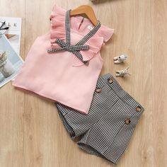 Girls Summer New Style short Sleeve T-Shirt+Pant Dress – GaGodeal