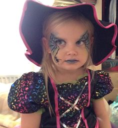 Halloween witch childrens face paint make up