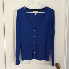 Banana Republic royal blue cardigan, XS Adorable cardigan with brass buttons, excellent condition! Banana Republic Sweaters Cardigans