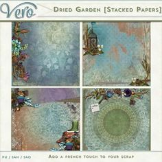 Digital Art :: Paper Packs :: Dried Garden [Stacked Papers]