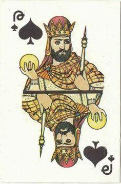 Printable Playing Cards, King Of Spades, Trading Cards, Tarot, Decoupage, Miniatures, Scrapbook, Joy, Graphics