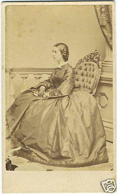 Civil War Era CIR 1861 CDV Portrait of Lucy w Baxter | eBay