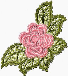 Free Lace Flower machine embroidery design
