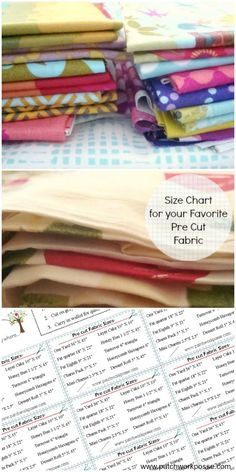 What is a Fat Quarter & other Fabric Dimensions {free printable chart} -