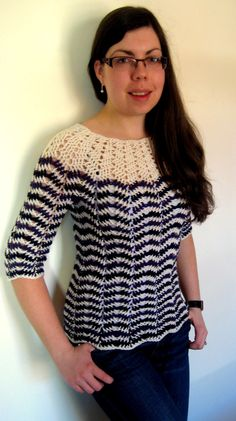 Chevron stitch 3 season sweater