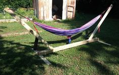 Need a place to relax and unwind from a long day's work in the backyard? This is a collection of 17 easy DIY hammock stand plans & ideas that are look good. Wooden Hammock, Diy Hammock, Backyard Hammock, Pergola Garden, Metal Pergola, Hammock Stand, Hammocks, Pergola Kits, Portable Hammock