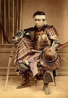 Young Samurai Ca. Early Meiji-era of Scenes and People of Japan Japanese History, Japanese Culture, Japanese Art, Japanese Warrior, Japanese Sword, Kendo, Katana, Geisha Kunst, Era Meiji