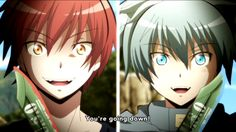 Assassination Classroom Karma Akabane vs Nagisa Shiota episode 18 season 2 final season face off fight