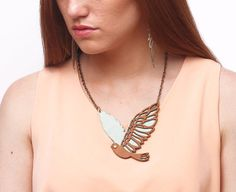 MARTIN PESCADOR leather necklace (pink & magenta)
