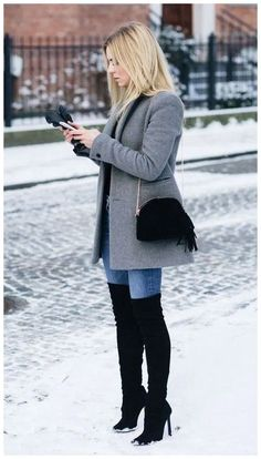 winter outfits 2019 31 The Best Lovely Winter Outf - winteroutfits Winter Outfits Women, Casual Winter Outfits, Winter Fashion Outfits, Stylish Outfits, Autumn Winter Fashion, Fall Outfits, Winter Clothes Women, Winter Wear, Winter Jackets For Women
