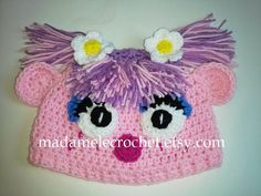 Newborn to Toddler -Pink Female Monster Crochet Hat - Made to Order