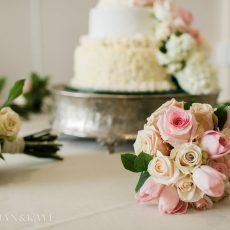 Kaitlyn and Justin | No Regrets Events Blush flowers make for a beautiful and delicate bouquet!