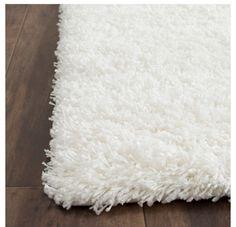 White fluffy rug // Target