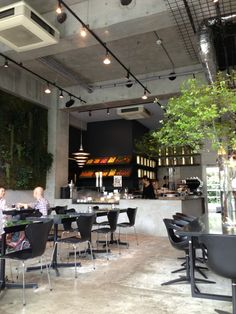 caf inside nicolai bergmanns store serving healthy fresh food and