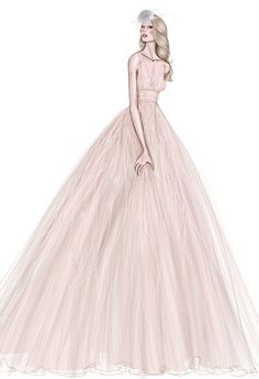 Fall 2013 collection sketch | Watters | brides.com