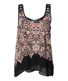Look at this Black & Pink Baroque Tank on #zulily today!
