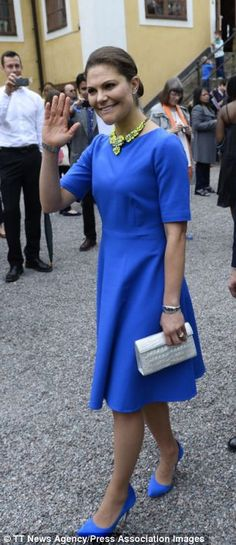 STOCKHOLM 2014-06-06 Crown Princess Victoria and Prince Daniel mingle after the National Day Citizenship ceremony at the Ulriksdal Palace in...
