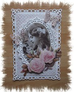 Erika040512-5 - Groot Shabby Chic Cards, Vintage Shabby Chic, Vintage Cards, Birthday Cards, Give It To Me, Fancy, Frame, Flowers, Inspiration