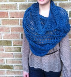 Exchange Student Triangle Scarf PDF Crochet Pattern