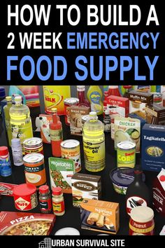 If you are brand new to prepping and want to start stockpiling food, you should get two weeks of food into your pantry ASAP. Emergency Food Storage, Emergency Food Supply, Emergency Preparation, Emergency Supplies, Emergency Preparedness, Emergency Planning, Emergency Kits, Emergency Management, Survival Food Kits