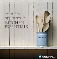 30 kitchen essentials for your first apartment, glad to know I actually have a bunch of this. some will definitely need to be purchased when I get an actual apartment and not a campus one.