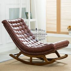 lounge chair leather on sale at reasonable prices, buy Modern Design Rocking Lounge Chair Leather and Wood For Home Furniture Living Room Adult Luxury Rocking Chair Chaise Design from mobile site on Aliexpress Now! Cool Furniture, Modern Furniture, Furniture Design, Furniture Dolly, Furniture Chairs, Upholstered Chairs, Furniture Ideas, Lounges, Sofa Design