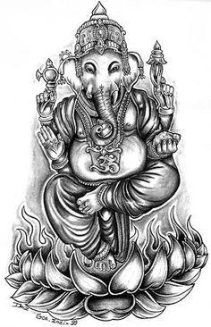 Hindu Art | fantasy_grey_cartoon_hindu_god_goddess_om_religious_lotus_indian_David