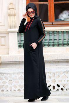 NEVA STYLE - Daily Dress - Black Hijab Dress 8065S
