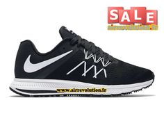 NIKE ZOOM WINFLO 3 - CHAUSSURE DE RUNNING NIKE PAS CHER POUR HOMME Noir/Anthracite/Blanc 831561-001