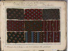 Textile Sample Book  c1780 British Dimensions: 11 1/4 x 16 3/4 x 2 inches Accession Number: 156.41 P34