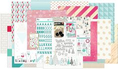 Oh what fun!! This is the collection of papers and embellishments designed exclusively by @kjstarre for  our @hipkitclub #november2915 kits featuring @kjstarre @official_basicgrey @pinkfreshstudio @mymindseyeinc #hipkitclub #hipkits #scrapbookkits #november2015 #christmas #falala #kjstarre