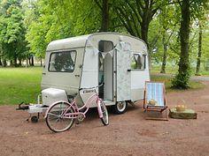 Vintage Sprite Cadet caravan Cath Kidston shabby chic interior