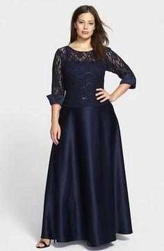 353349c318fac Trajes de noche para gordas Hobble Skirt, Mother Of The Bride Gown, Mother  Of