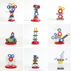 Explore magnetism with kids by making magnetic sculptures! BABBLE DABBLE DO #scienceforkids #magnets #kidsactivities