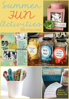 Summer Fun Activities for kids and family!! { lilluna.com }