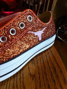 University of Texas Converse by JCorreaCreations on Etsy, $120.00