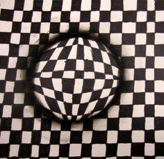Isabella8536's art on Antonia - Optical Spheres taught by Allison  at Hamlin Robinson School in Seattle, Washington