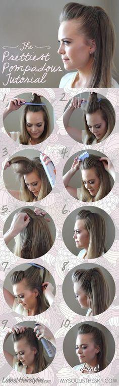 Si quieres el cabello suelto, pero que se vea de una manera más original, sigue estos pasos